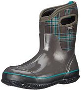Bogs Women's Classic Winter Plaid Mid Snow Boot