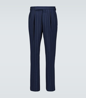Ralph Lauren Purple Label Relaxed-fit pinstriped pants