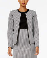 Kasper Houndstooth Knit Jacket, Regular & Petite