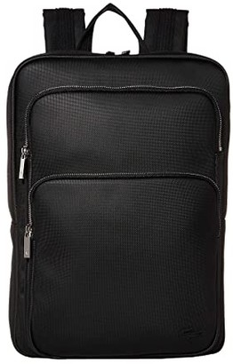 Lacoste Classic Square Backpack (Black) Backpack Bags