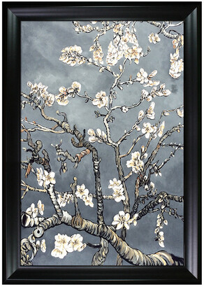 Museum Masters La Pastiche By Overstockart Branches Of An Almond Tree In Blossom, Pearl Grey By La Pastiche Originals