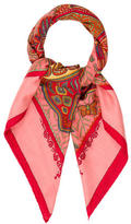 Hermes Legende Kuna Peuple De Panama Cashmere Silk Scarf
