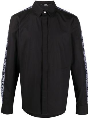 Karl Lagerfeld Paris Logo-Tape Dress Shirt