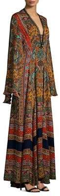 Etro Dream Catcher Silk Kimono Gown