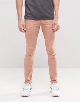 Asos Extreme Super Skinny Jeans In Pink