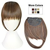 REECHO Fashion One Piece Clip in Hair Bangs / Fringe / Hair Extensions Color: Light Brown