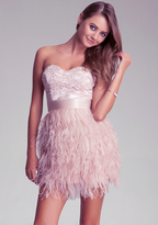 Bebe Isis Lace Feather Dress