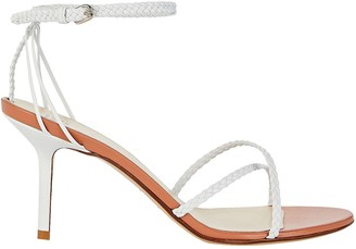 Francesco Russo Braided Leather Stiletto Sandals