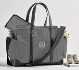 Pottery Barn Kids Classic Mom Diaper Bag - Black Herringbone