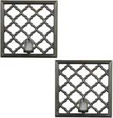 Element 2-piece Lattice Candle Wall Sconce Set