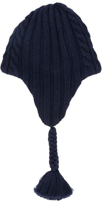 Moncler shearling logo hat