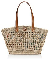 Tory Burch Small Twisted Straw Megan Tote