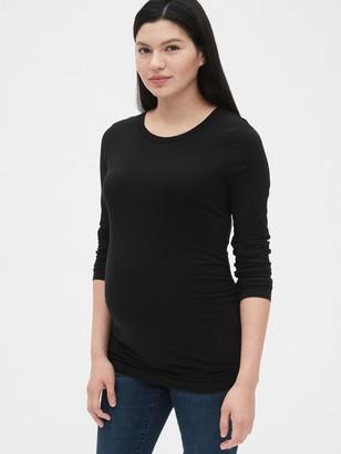 Gap Maternity Pure Body Long Sleeve Crewneck T-Shirt