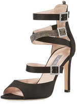 Sarah Jessica Parker Fugue Strappy Satin Sandal, Black