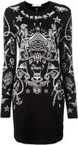 Givenchy tattoo print long sleeve dress - women - Spandex/Elastane/Viscose - S