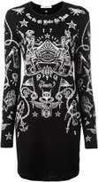 Givenchy tattoo print long sleeve dress