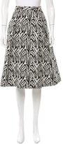 Nicholas Pleated Abstract Print Skirt