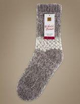 Marks and Spencer Stripe Fleece Lined Socks