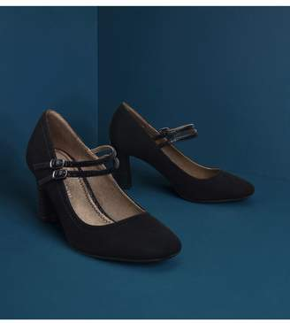 Next Womens Black Extra Wide Fit Mary Jane Shoes - Black