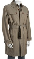 Paul Smith PS khaki cotton twill belted trenchcoat