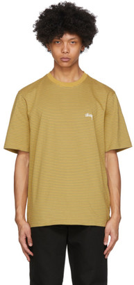 Stussy Yellow Mini Stripes T-Shirt
