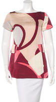 Marc Jacobs Abstract Short Sleeve Top