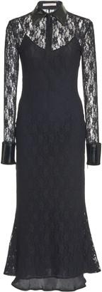 Christopher Kane Bell-Sleeve Lace Midi Dress
