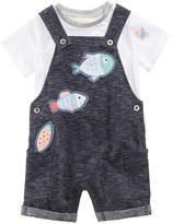First Impressions 2-Pc. T-Shirt & Fish Overall Set, Baby Boys, Created for Macy's