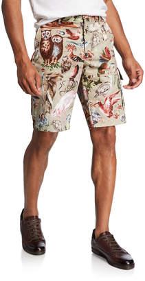 Valentino Men's Animal Pattern Cargo Shorts