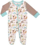 Baby Starters White & Brown Sleepy Fox Footie - Infant