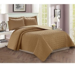 Elegant Comfort Luxury 2-Piece Bedspread Coverlet Majestic Design Quilted Set with Shams - Twin/Twin Xl Bedding