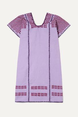 Pippa Holt Kids - Embroidered Cotton Kaftan - Purple