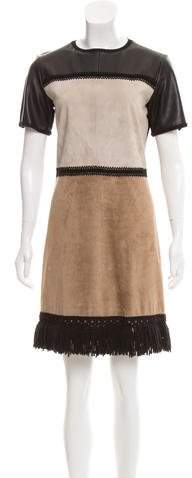 Derek Lam Fringe-Trimmed Mini Dress