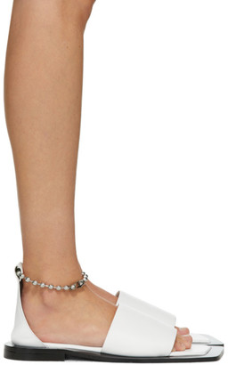 Flat Apartment White Chain Strap Sandals