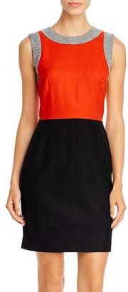Paule Ka Color-Blocked Virgin-Wool Mini Dress