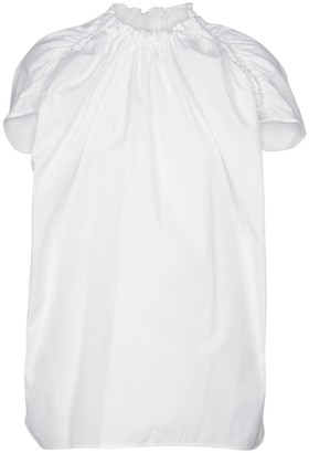 Marni Ruched cotton poplin top