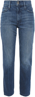 Frame Heritage Sylvie Distressed High-rise Slim-leg Jeans