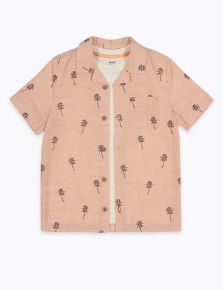 Marks and Spencer 2 Piece Cotton Shirt & T-Shirt Set (2-7 Yrs)
