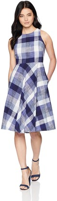 Brinker & Eliza Women's Petite Sleeveless Fit and Flare Dress