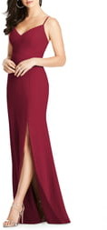 Dessy Collection Crisscross Seam Crepe Gown