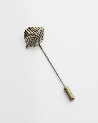 Ted Baker LIST Brass leaf lapel pin