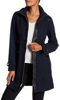 Via Spiga Center Zip Softshell Fleece Lined Water Repellent Jacket