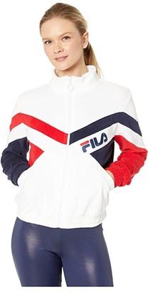 Fila Hadley Jacket (White/Peacoat/Chinese Red) Women's Clothing