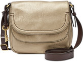 Fossil Peyton Leather Double Flap Bag
