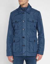 Hackett Indigo Blue Albermarle Field 4-Pockets Raincoat