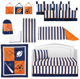 Pam Grace Creations Vintage Like Sports 13 Piece Crib Bedding Set Bedding