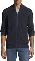 Neiman Marcus Textured-Knit Mock-Neck Cardigan