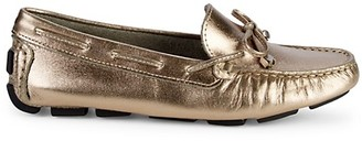 Saks Fifth Avenue Metallic Leather Driver Loafers