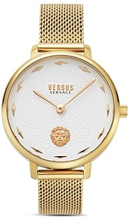Versace La Villette Mesh Bracelet Watch, 36mm