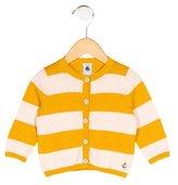Petit Bateau Boys' Stripped Button-Up Cardigan